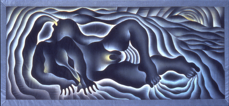 Earth birth, by Judy Chicago. 1983 http://www.brooklynmuseum.org/eascfa/feminist_art_base/archive/images/376.1559.jpg