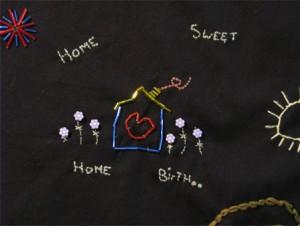 A midwifery stitch